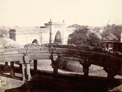 Panoramic view of the town from the top of the Jami Masjid, Khambhat (Cambay). Section 1, looking north-north-west